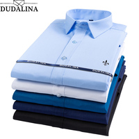 Dudalina Bamboo Fiber 2019 Men Shirts Male Long Sleeved Solid Slim Fit Casual Shirt Men's Social Business Reserva Aramy Aleatory