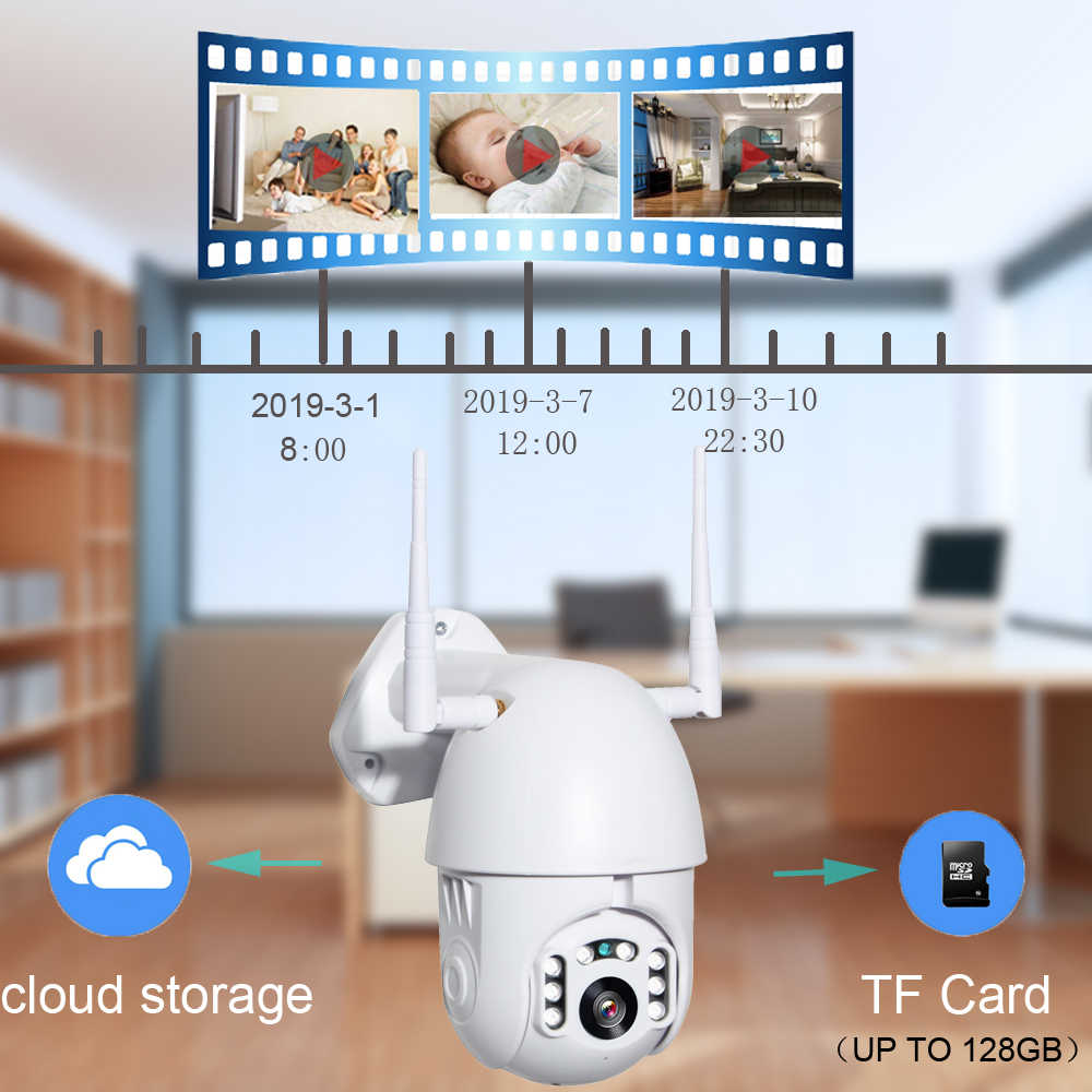 IP wifi камера беспроводная 2MP 1080P наружная PTZ скоростная купольная CCTV IR Onvif камера P2P безопасности наблюдения водонепроницаемая