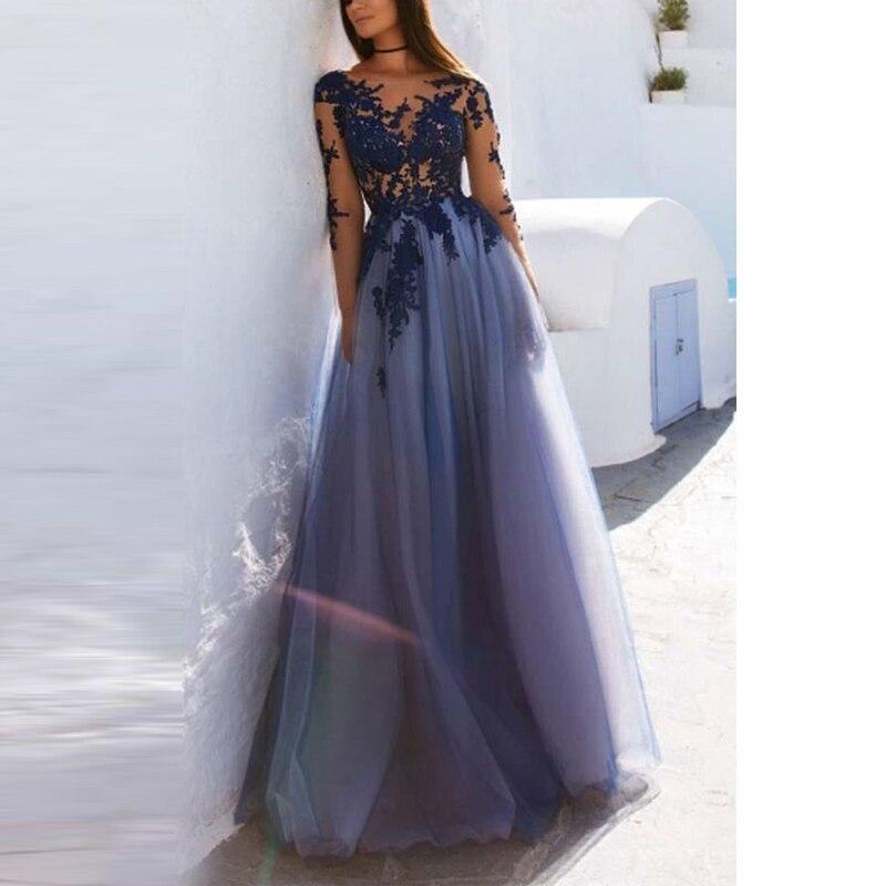 Angel married   evening     dresses   long sleeve lace elelgnat open back prom   dress   womens formal party   dress   vestido de festa