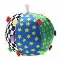 Baby Ball Toys Colorful Ring Bell Ball Educational Cotton Baby Hand Grasp Ball Cloth Music Sense Ball