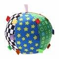Bebê bola toys anel colorido bola sino algodão aperto mão do bebê bola de pano bola senso de música educacional