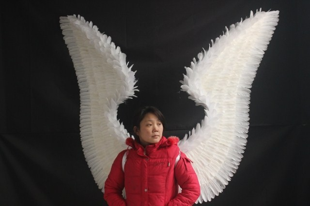 Wedding photography/model catwalk stage performance show/other festive party supplies fashion large size feather angel wing