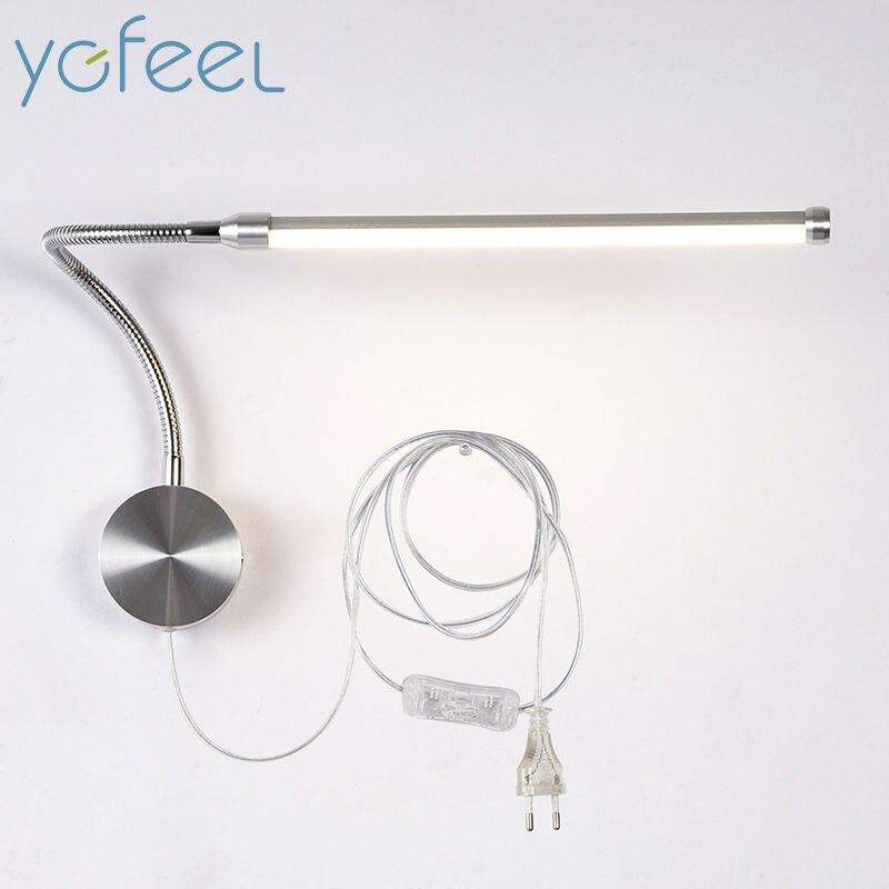 ygfeel 6 w lampadas de parede led com plugue europeu plug americano interior quarto lampada