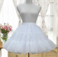 Lolita Court princess Fashion White/Black Lolita Woman Puff Skirt Organza Petticoat Layered Tutu Skirt