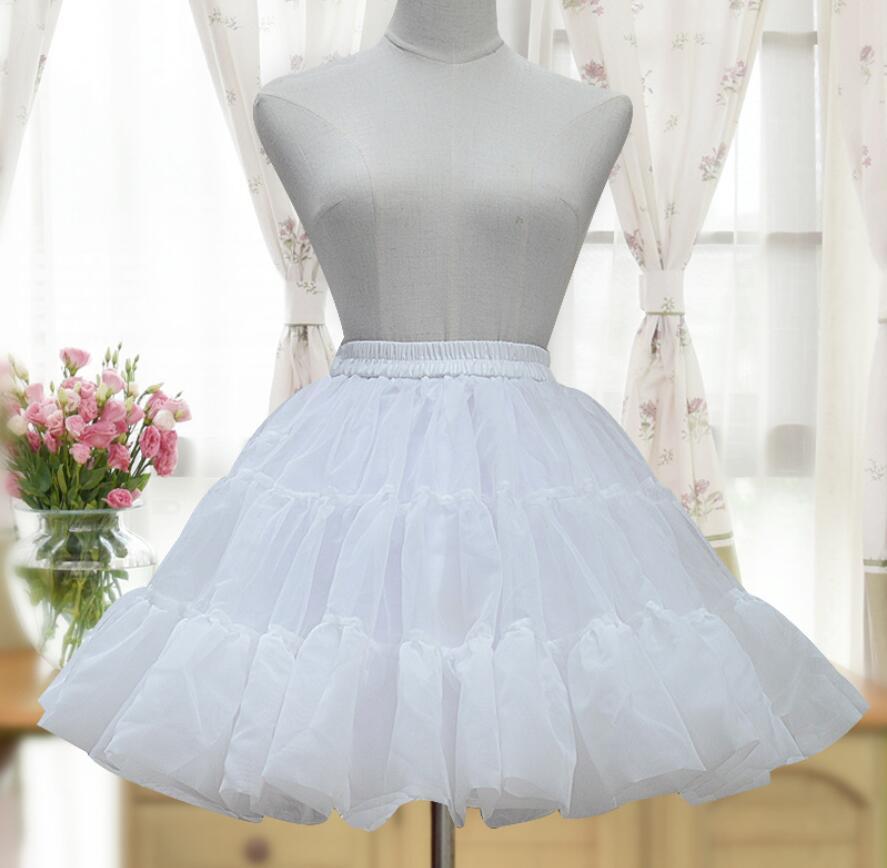Lolita Court princesse mode blanc/noir Lolita femme jupe bouffante Organza jupon couche Tutu jupe