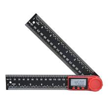 200mm Digital Protractor Ruler Inclinometer Goniometer Level Measuring Tool Electronic Angle Gauge Stainless Steel