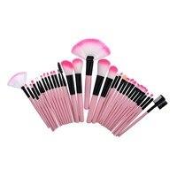 24 32pcs Makeup Brushes Sets Cosmetic Makeup Brushes Set Make Up Powder Foundation Eyebrow Eyeliner