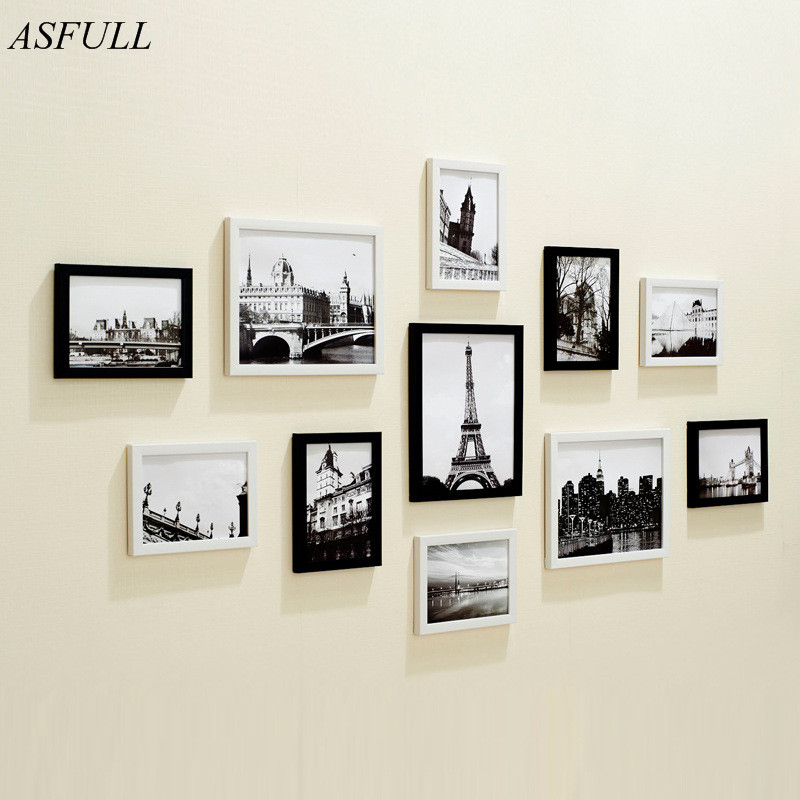 ASFULL European Stype Home Design Wedding Love Photo Frame Wall Decoration Wooden Picture Frame Set for