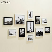ASFULL European Stype Home Design Wedding Love Photo Frame Wall Decoration Wooden Picture Frame Set for Wall Photo Frame Set(China)