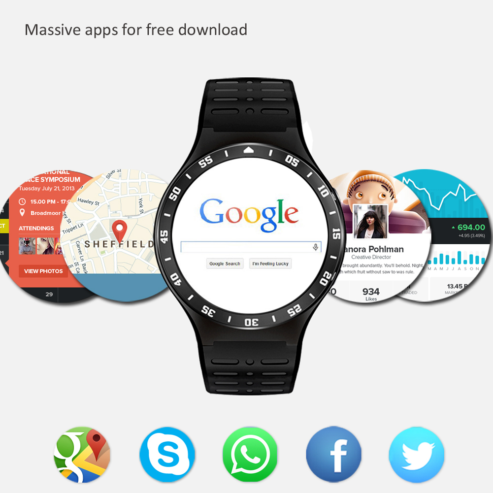 MTK6580 Android 5.1 OS Smart Watch Phone 360*360 Screen quad core Smartwatch Support SIM Pedometer sleep monitor Smart Watch i5 gsm wrist watch phone w 1 8 resistive screen quad band single sim and fm black