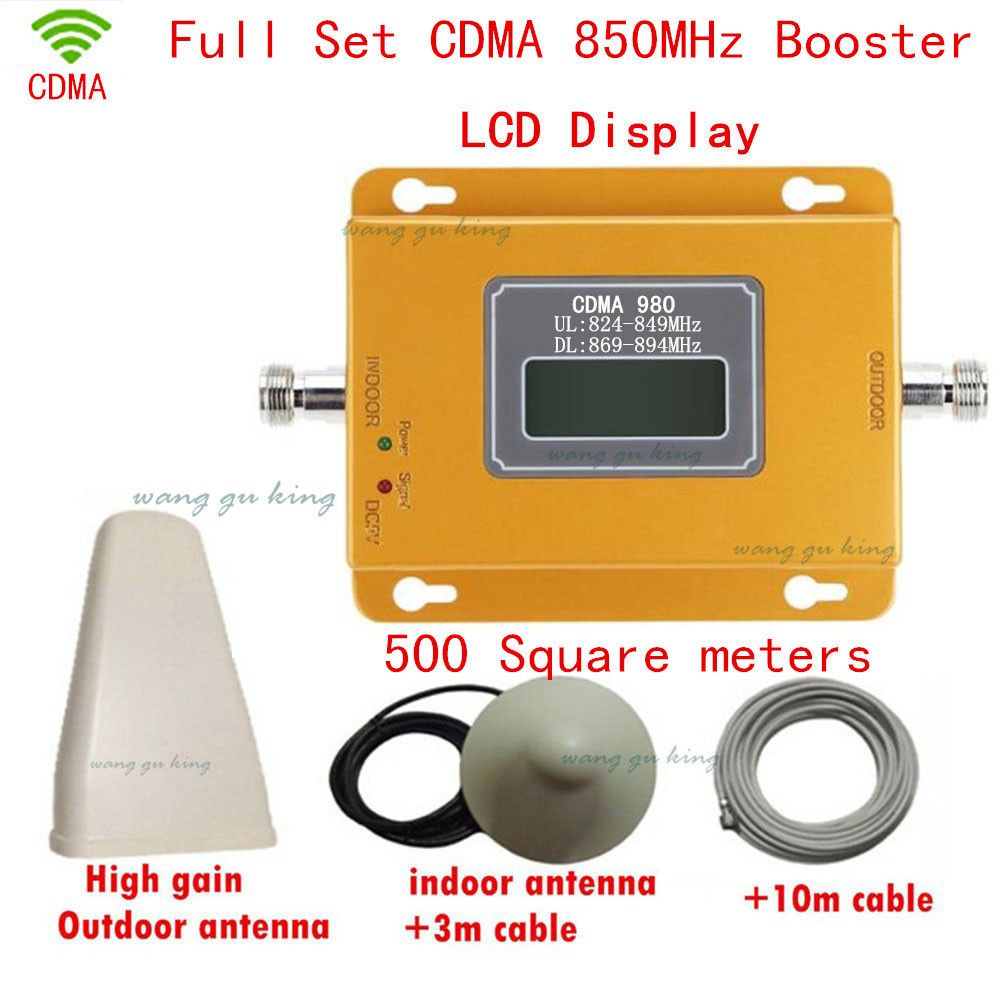 Full Set LCD Display 70dBi Gain Mobile Phone Amplifier CDMA 850mhz Cell Phone Signal Booster CDMA 850 Moble Repeater Amplifier