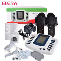 New Electrical Stimulator Full Body Relax Massager Pulse Acupuncture Therapy Slipper 4 Electrode Pads