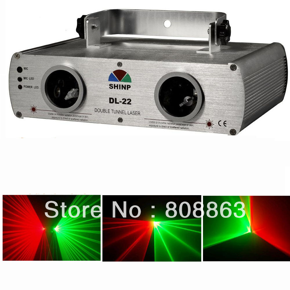 New 2 Lens Red&Green DMX Laser Scanner DJ Party ktv disco club Professional Stage Light system show x4