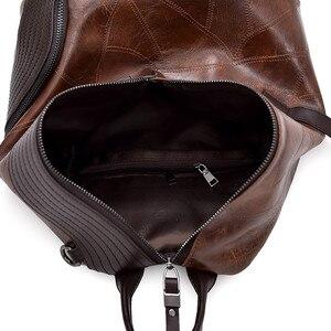 Image 5 - Vintage Antitheft Backpack Women 2018 Fashion New Large Capacity Women Shoulder Bag Leisure Soft Leather School Travel Back Pack