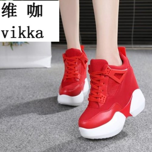 2017 Fashion Casual Women Shoes Height Increasing Ladies Shoes Mesh Breathable Platform Shoes wedge Flat Female