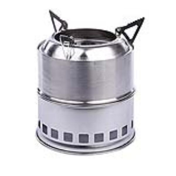 Stainless Steel Lightweight Wood Burning Camping Stove for Outdoor Cooking  Picnic Barbecue Camping (Silver) - Compare Prices On Wood Stove Water- Online Shopping/Buy Low Price