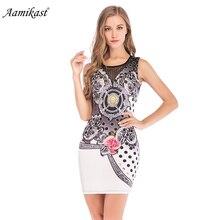 Aamika Women Dress Vestidos Print Solid White High Waist Casual Slim Office Dresses Sexy Plunge Neck Elegant Blazer Mini