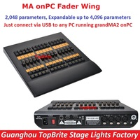 2017 Professional DMX 2048 Controller MA OnPC Fader Wing Extend To 4096 Parameters GrandMa2 Software Stage