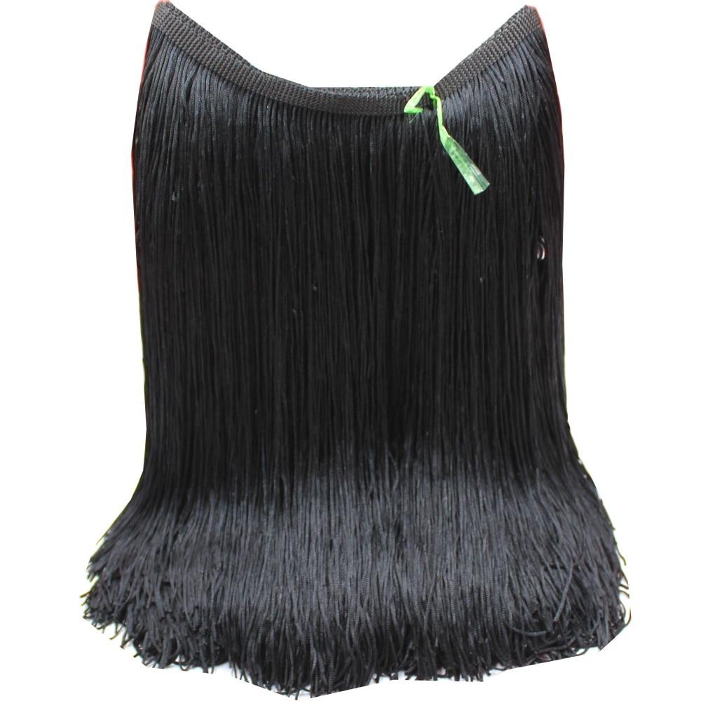 Latin Fringe Tassel Chainette Fringes Polyester Trimming 2 Yards Dance Dress Macrame Tassel Diy Dress Trims Accessories 28-30cm