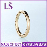 2017 Winter New Arrival 100% 14.K G.old Classic Hearts of P Rings. Original Pulseira.Real Fashion Jewelry.Women Christmas Ring