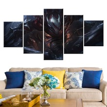 5 Panel LOL League of Legends Talon Game Canvas Printed Painting For Living Room Wall Art Home Decor HD Picture Artworks Poster недорго, оригинальная цена