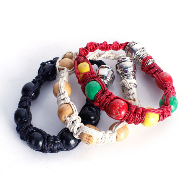 New Portable Metal Bracelet Smoke Smoking Pipe Jamaica Rasta Weed Pipe 3 Colors Gift for both man and women GYH