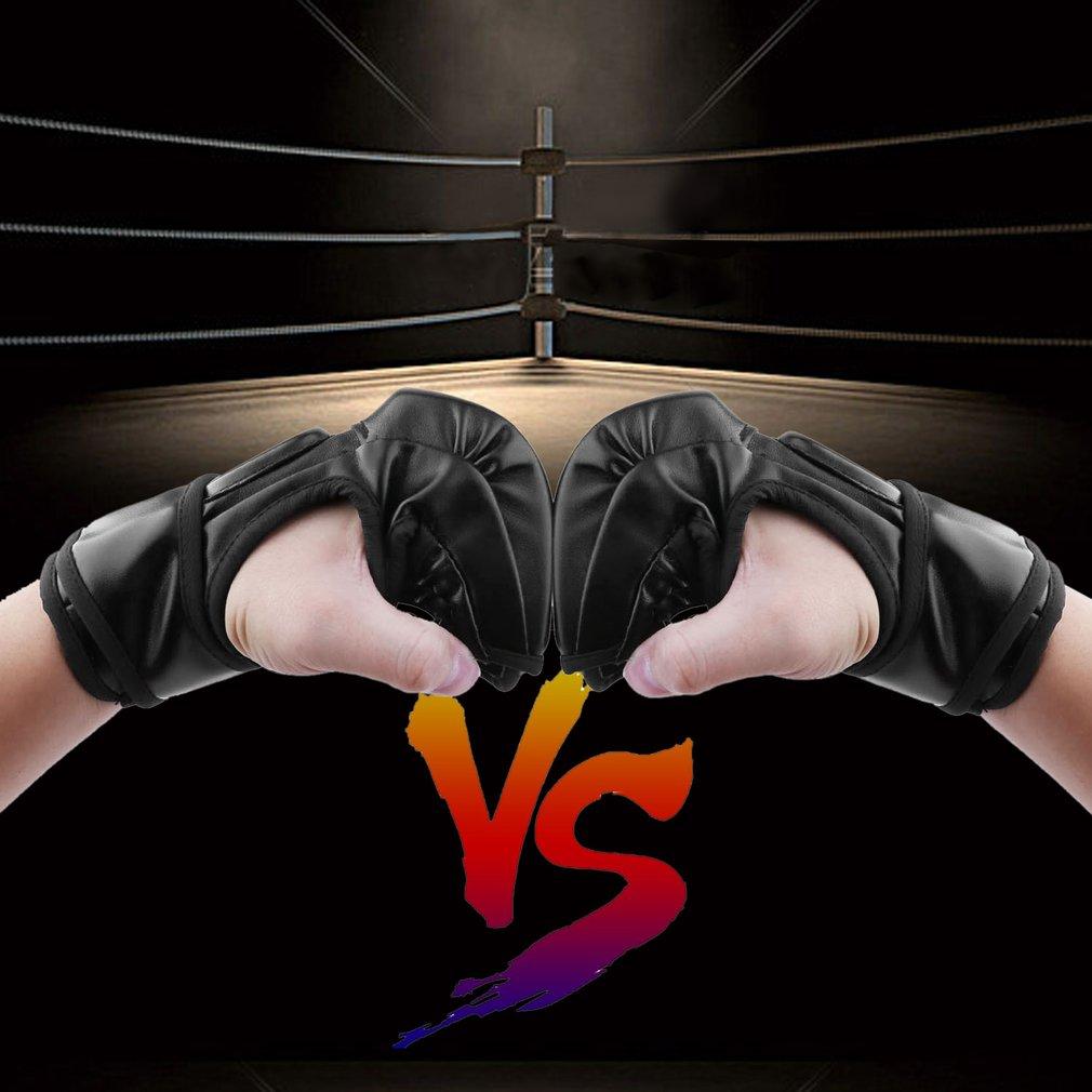 Gloves Boxing Half Finger Fighting Sandbag Training Sparring Grappling New LD