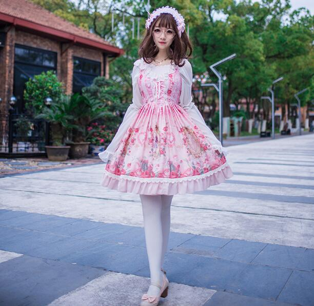 The new spring and summer of 2017 printed vest dress lolita blouse dress skirt kiind of new blue women s xl geometric printed sheer cropped blouse $49 016