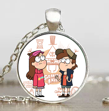 New Steampunk Drama Gravity Falls Mysteries BILL CIPHER WHEEL Party Time Pendant Necklace doctor who 1pcs/lot man chain mens toy