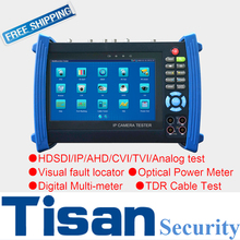 7 inch Analog IP camera tester 1080P SDI TVI CVI AHD CCTV tester monitor with Optical Power Meter test ,Digital Multi-meter