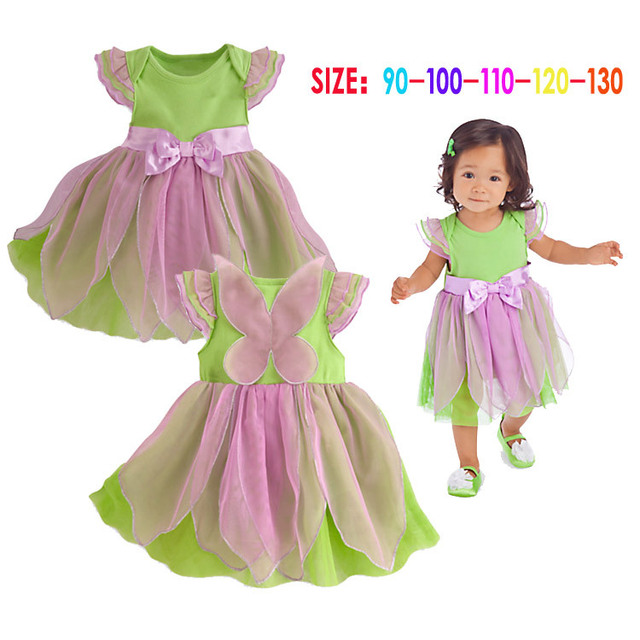 New Bow Girls Dresses Kids Summer Clothes Cute Fashion Green With