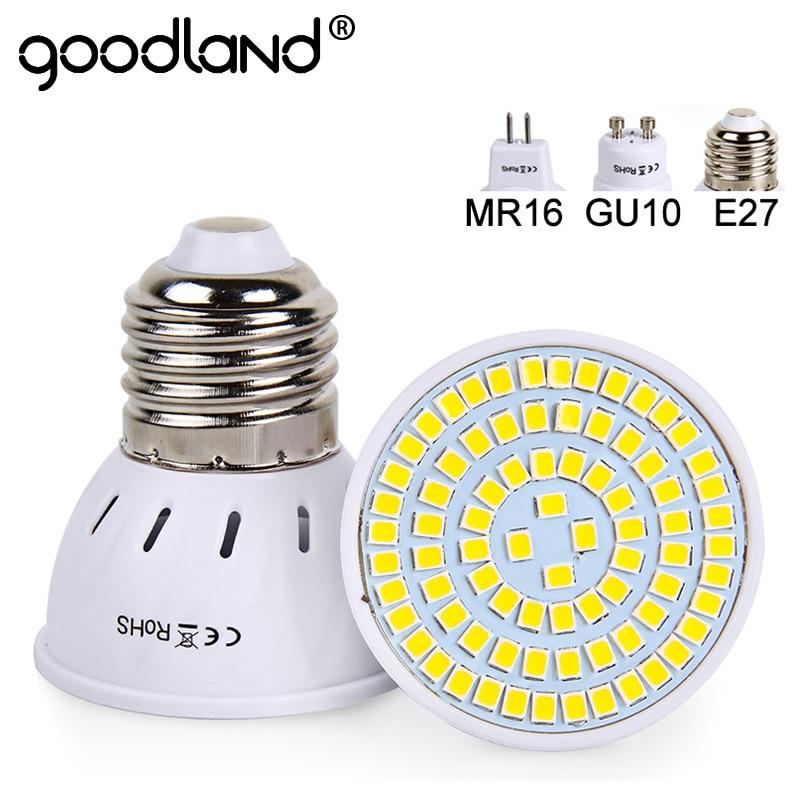 Goodland E27 LED Bulb 220V 240V MR16 GU10 LED Lamp LED Spotlight Bulb Lampada 48 60 80 LEDs SMD 2835 For Indoor Home Spot LightGoodland E27 LED Bulb 220V 240V MR16 GU10 LED Lamp LED Spotlight Bulb Lampada 48 60 80 LEDs SMD 2835 For Indoor Home Spot Light
