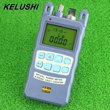 KELUSHI все-в-одном волоконно-оптический измеритель мощности-70 до+ 10dBm 10 мВт 10 км Кабельный тестер Визуальный дефектоскоп FTTH тестер инструмент