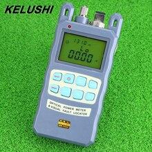 KELUSHI All IN ONE miernik mocy optycznej włókna 70 do + 10dBm 1/10mw 1 10km Tester kabli lokalizator uszkodzeń wizualnych FTTH narzędzie do testowania