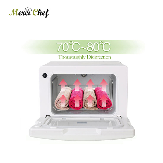ITOP Hot Towel Cabinet Electric Warmer Towel Disinfection Cabinet UV light Sterilizer Facial Salon Spa Towel Machine Household