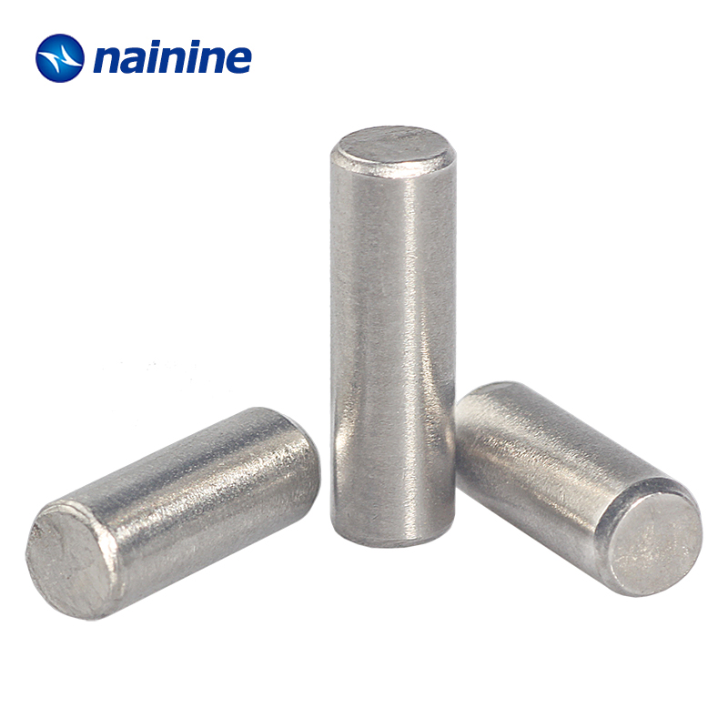 10/20Pcs M1.5 M2 M2.5 M3 M4 M5 GB119 Cylindrical Pin Parallel Pins 304 Stainless Steel