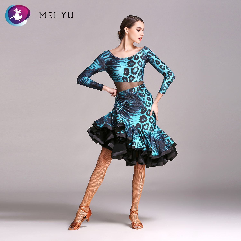 Mei Yu Gb050 En Gb051 Latin Dance Top En Rok Past Dans Jurk Ballroom Kostuum Turnpakje Vrouwen Dame Avondfeest Jurk