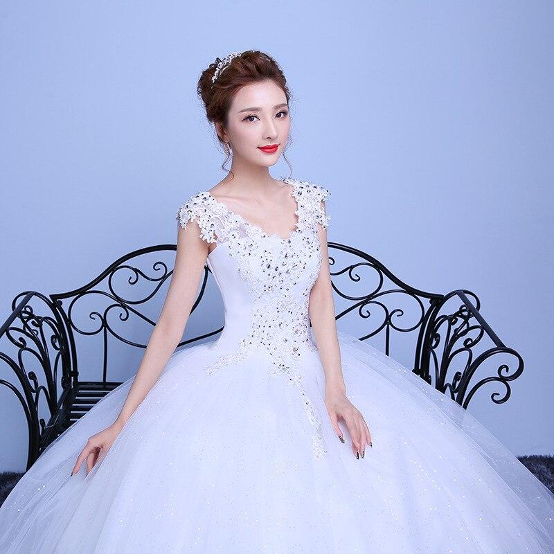 Crystal Lace Wedding Dress Women  Diamond Pregnant Women Red Beige Bride Dressbrautkleid Vestido De Noiva Casamento Civil