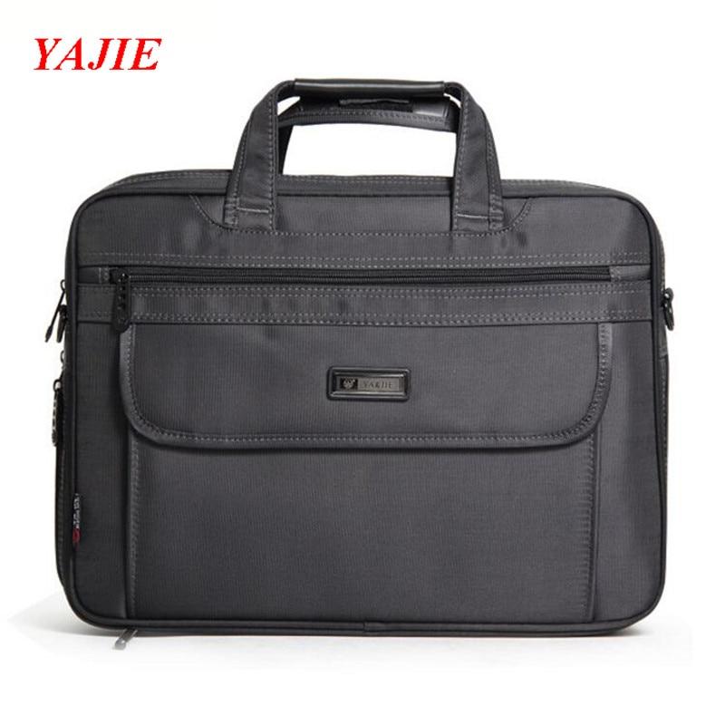 YAJIE Brand Men Shoulder Bag High Quality Nylon Travel Handbag Casual 14 inch Notebook Computer Bag Business File Handbags M646