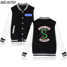 WEJNXIN Autumn Winter Jacket American TV Riverdale Women Men Fashion South Side Mens Female Fans Casual Baseball Jacket XXS-4XL(China)