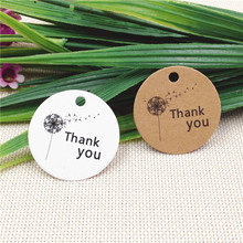200Pcs/Lot Handmade Thank You Kraft 3cm Tags For Engagement Holiday Dessert Part