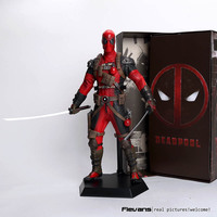 Crazy Toys Deadpool PVC Action Figure Collectible Model Toy 12 30cm red / sliver HRFG516