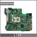 Novo original para toshiba satellite l745 da0te5mb6f0 a000093450 laptop motherboard ddr3 pga-989 mainboard frete grátis!