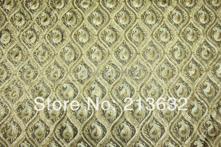 Poz10 текстильной вышивка ткань цветок бисер вышивка текстильной одежды Штаны ткань дизайнер ткань пряжи - 2