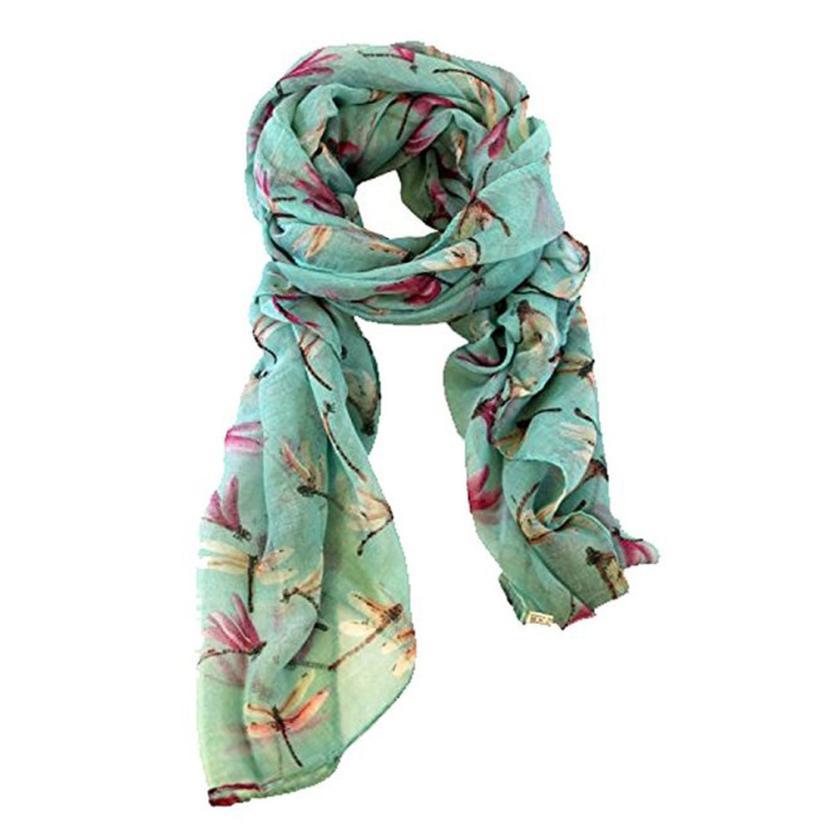 JAYCOSIN Lady Womens Long Cute Dragonfly Print   Scarf     Wraps   Shawl Soft   Scarves   Spring amazing j18