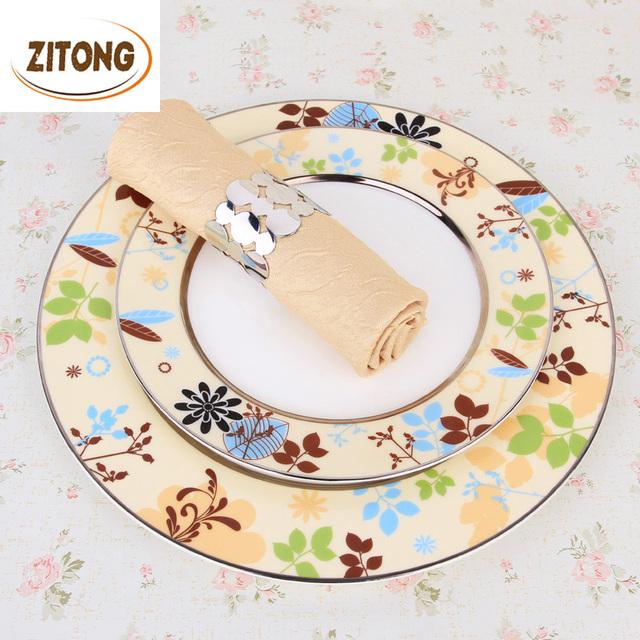 European Style Luxury Dinner Plates Bone China Dinnerware Set High Quality Ceramic 8″ / 11″ Inch Plate