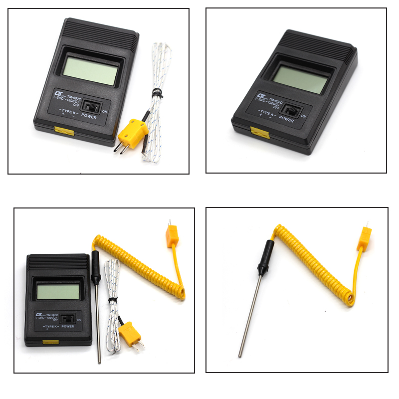 HQ TM-902C Digital LCD K Type Thermometer Meter Single Input+Thermocouple Probe