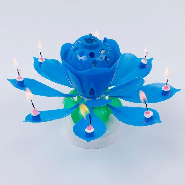 30f romantic musical lotus flower happy birthday candle music 30f romantic musical lotus flower happy birthday candle music candle party decor flower candle mightylinksfo