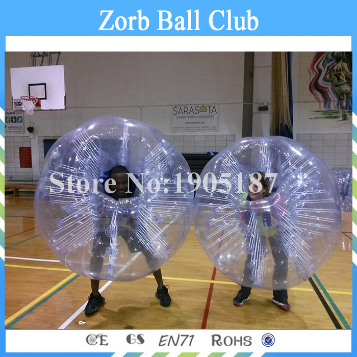 Free Shipping 100% TPU Funny Bubble Football, Bumper Ball For People , Inflatable Human Sized Soccer Bubble