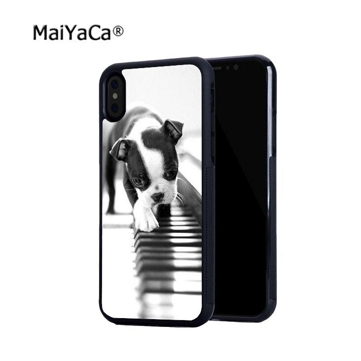 Buldogue francês borda suave rígido de volta casos de telefone móvel para o iphone x 5S se 6 6 6 s plus 6 splus 7 7 plus 8 8 plus X XR XS caso MAX